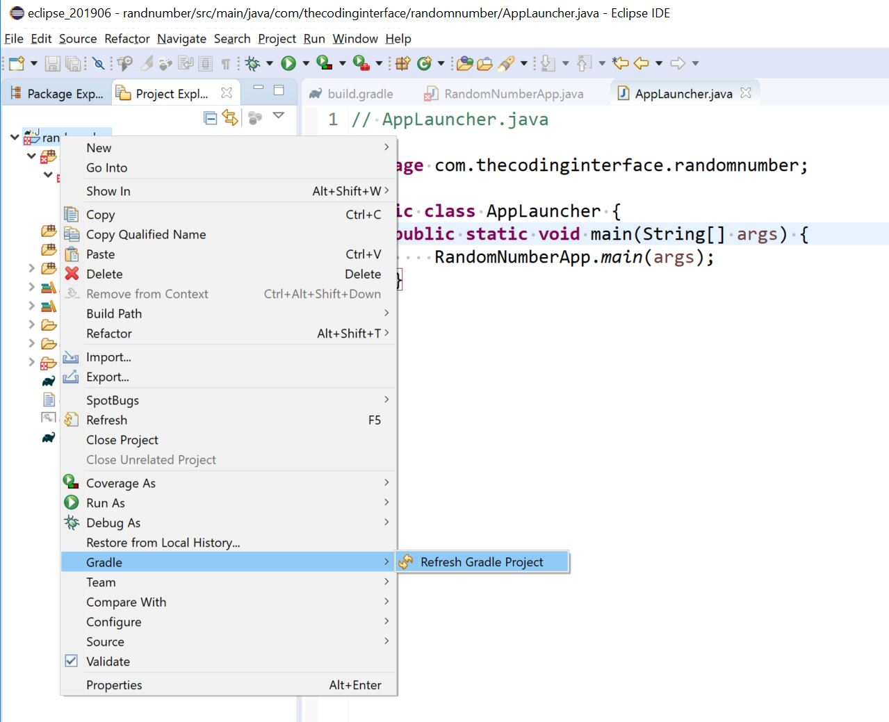 JavaFX with Gradle, Eclipse and, Scene Builder on OpenJDK11: Project