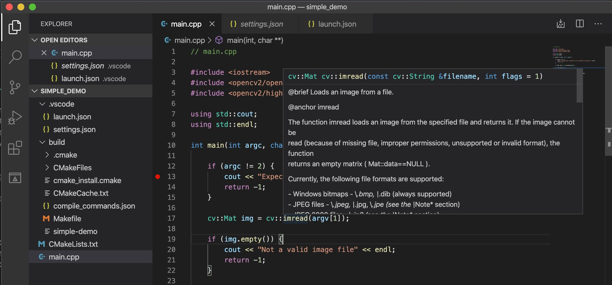 VS Code IntelliSense